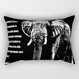 Wise Elephant Noir Rectangular Pillow
