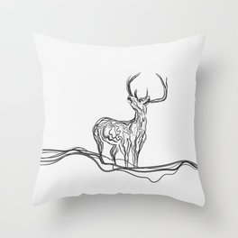 Mountain (Closer Than You Know) Lino Cut Throw Pillow