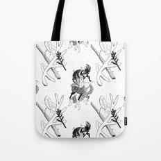 woman wolf pattern Tote Bag