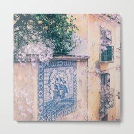 Lemon Trees and Tiles Metal Print