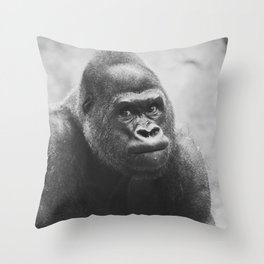 The Look Of A Silver Back Throw Pillow