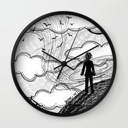 Facing the Wind Wall Clock