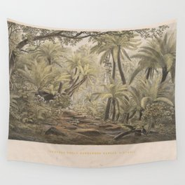 Ferntree Gully, Dandenong Ranges, Victoria by Eu von Guerard Date 1867  Romanticism Series Australia Wall Tapestry