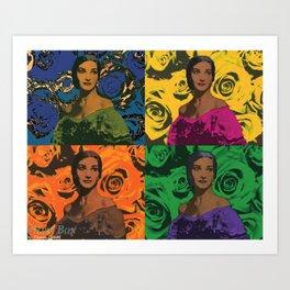 Maria Callas quartet Art Print