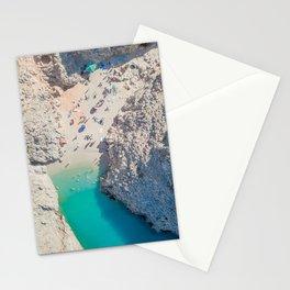 Seitan Limania Beach by Drone Stationery Cards