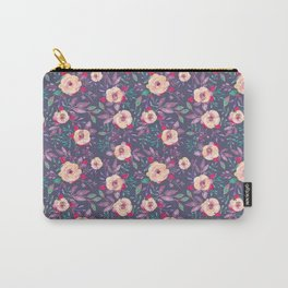 Flower Watercolor Pattern Carry-All Pouch