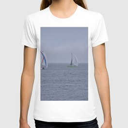 part 1 of 4 of Sailing Battle 42-56  - Transat Quebec St-Malo T-shirt