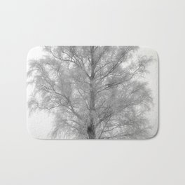 Birch in winter Bath Mat