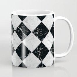 Cubic - Black & White Marble #895 Coffee Mug