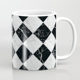 Cubic - Black & White Marble #895 Coffee Mug