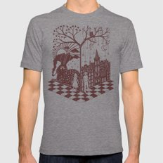 So close yet so far away Mens Fitted Tee Tri-Grey LARGE