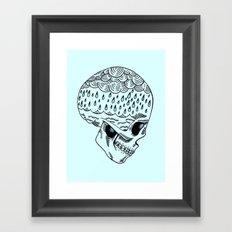 Skull Rain Framed Art Print