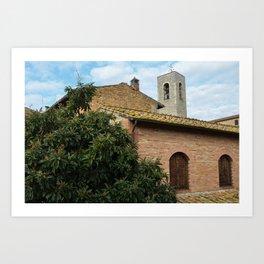 Rooftops of San Gimignano Art Print