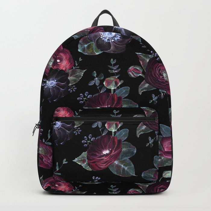 Fantasy Night Rose Red Backpack