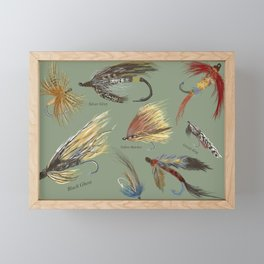 Fly fishing with hand tied lures! Framed Mini Art Print