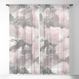 Rose Garden Soft Color Tone #decor #society6 #buyart Sheer Curtain