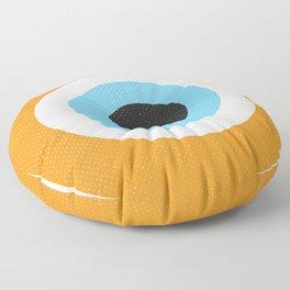 Orange Evil Eye Symbol Floor Pillow