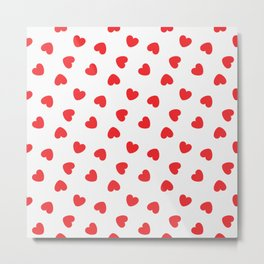 Playing cards hearts suit Metal Print