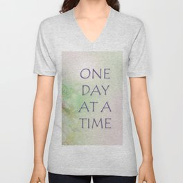 One Day at a Time Spring Flowers Unisex V-Neck
