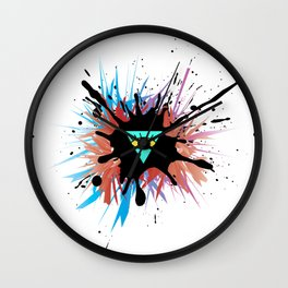 Reverse Illuminati Wall Clock