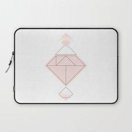 Tangram Diamond Linework Pink Laptop Sleeve