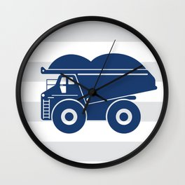 Dump truck stripe Wall Clock
