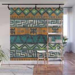 Grunge african pattern Wall Mural