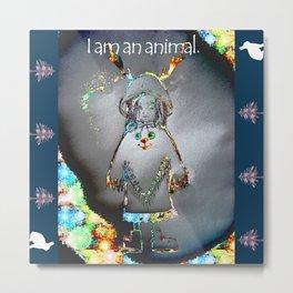 Animal Girl Metal Print