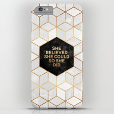 She believed she could so she did 2 iPhone 6 Plus Slim Case