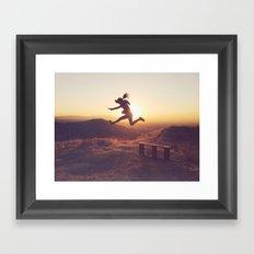 Jump for joy! Framed Art Print
