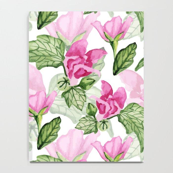 Pink flowers pattern Notebook