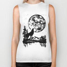 Moon Wolf Biker Tank