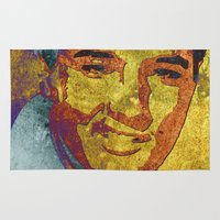 elvis presley Area & Throw Rugs featuring Elvis Presley by Pedro Nogueira