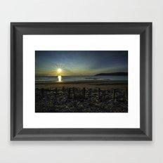 October Sun Framed Art Print