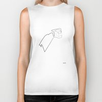 quibe Biker Tanks featuring One line Rocketeer by quibe