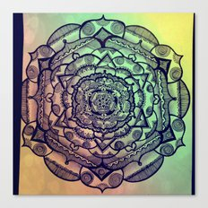 rainbow mandala Canvas Print