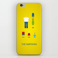 simpsons iPhone & iPod Skins featuring Simpsons by Jana Costa