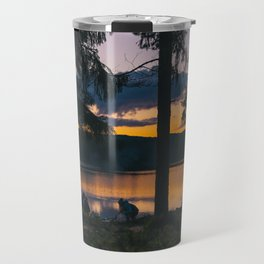 Camping by the Lake Travel Mug