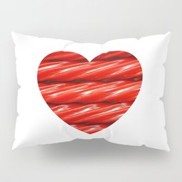 Red Licorice Candy Photo Heart  Pillow Sham