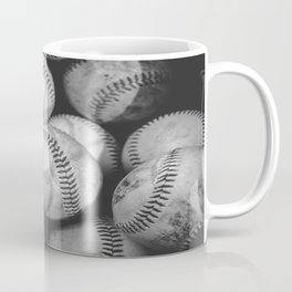 Baseballs in Black and White Coffee Mug