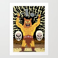 warrior Art Prints featuring WARRIOR  by Jack Teagle