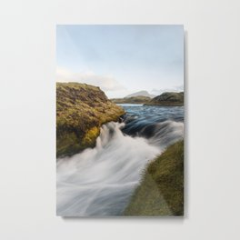 Afternoon in the Icelandic highlands Metal Print