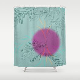 purple sun Shower Curtain