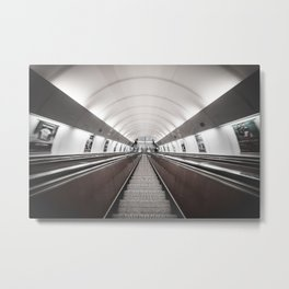 Symmetric Public Transport Metal Print