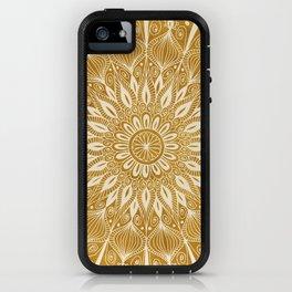 Vintage Mandala on Gold iPhone Case