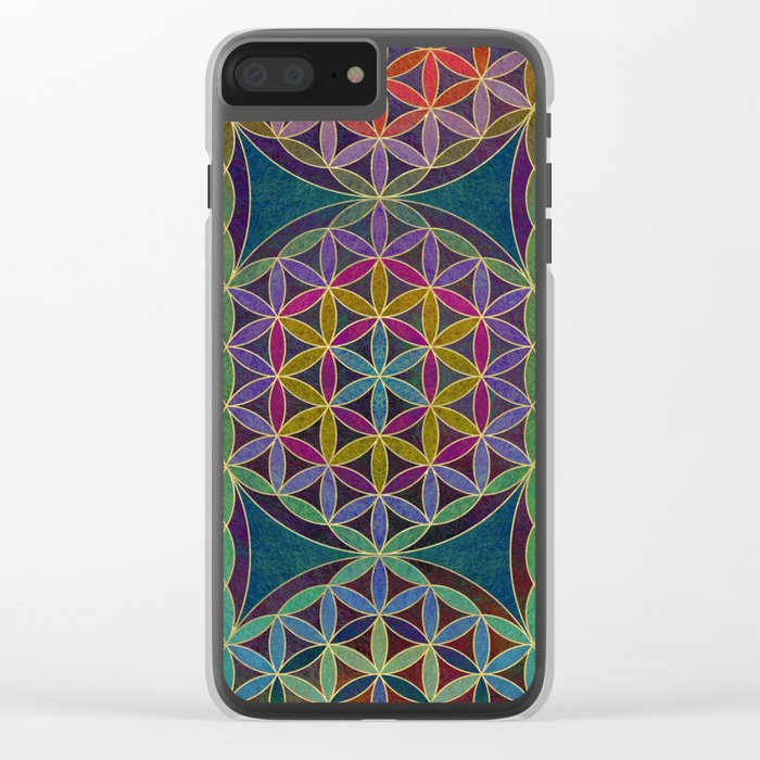 The Flower of Life (Sacred Geometry) 5 Clear iPhone Case