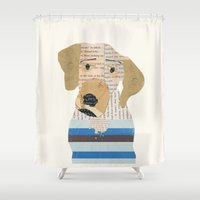 great dane Shower Curtains featuring great dane by bri.buckley