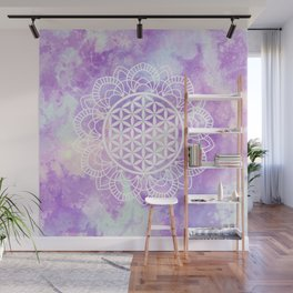 Flower Of Life (Soft Lavenders) Wall Mural