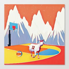 Goat in court Canvas Print