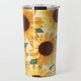 Happy Yellow Sunflowers Travel Mug